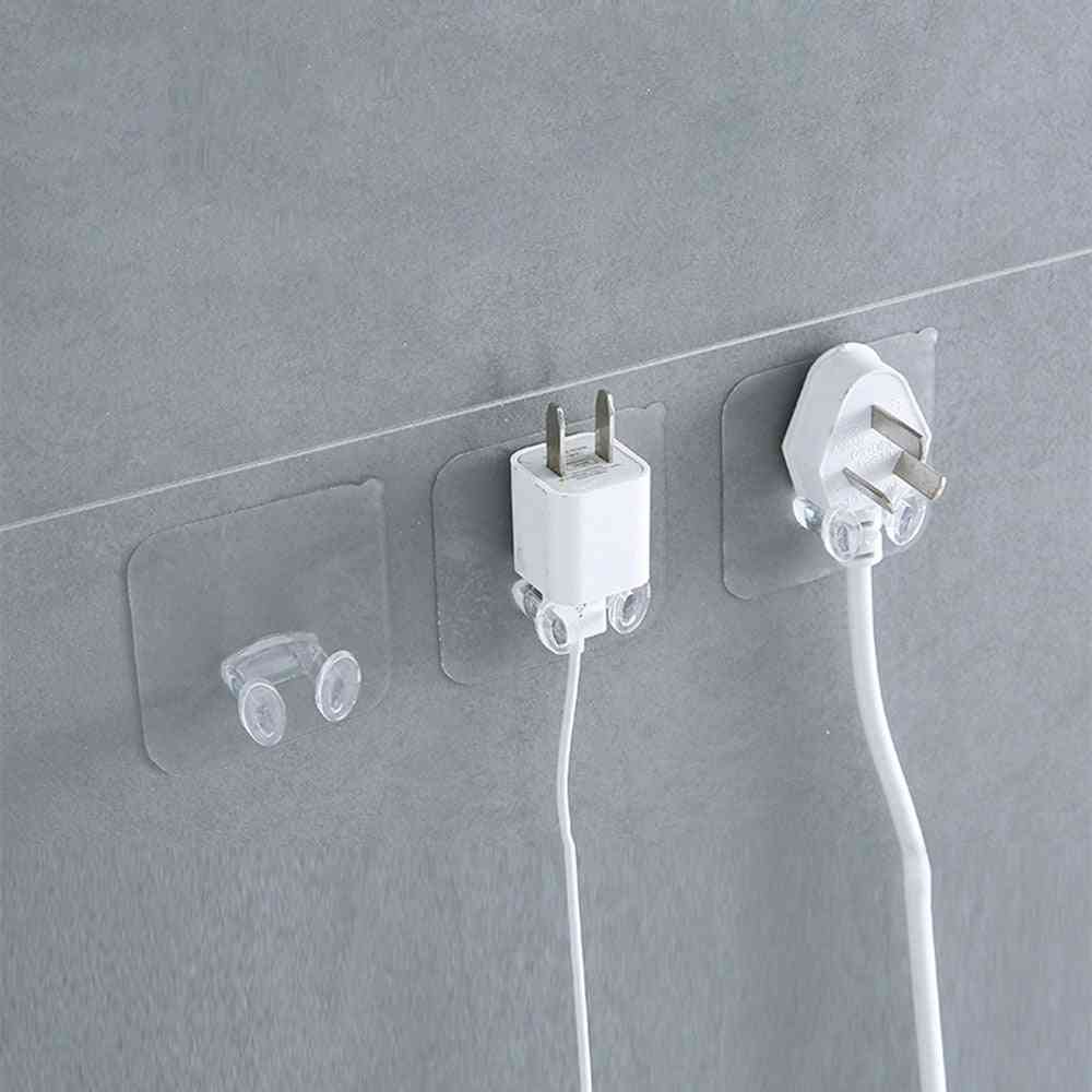 Wall Storage Hook For Kitchen And Bathroom - Wall Adhesive Power Plug Socket Holder