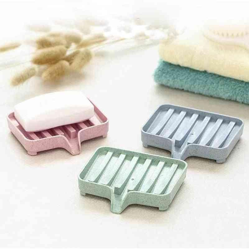 Sponge Holder, Storage Rack, Drain Soap Box, Tray Dish Plate Holder For Bathroom