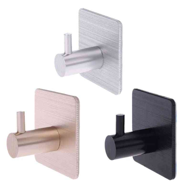 Self Adhesive Door Hook For Home Walls - Hanger For Clothes, Bags, Keys, Kitchen Or Towels