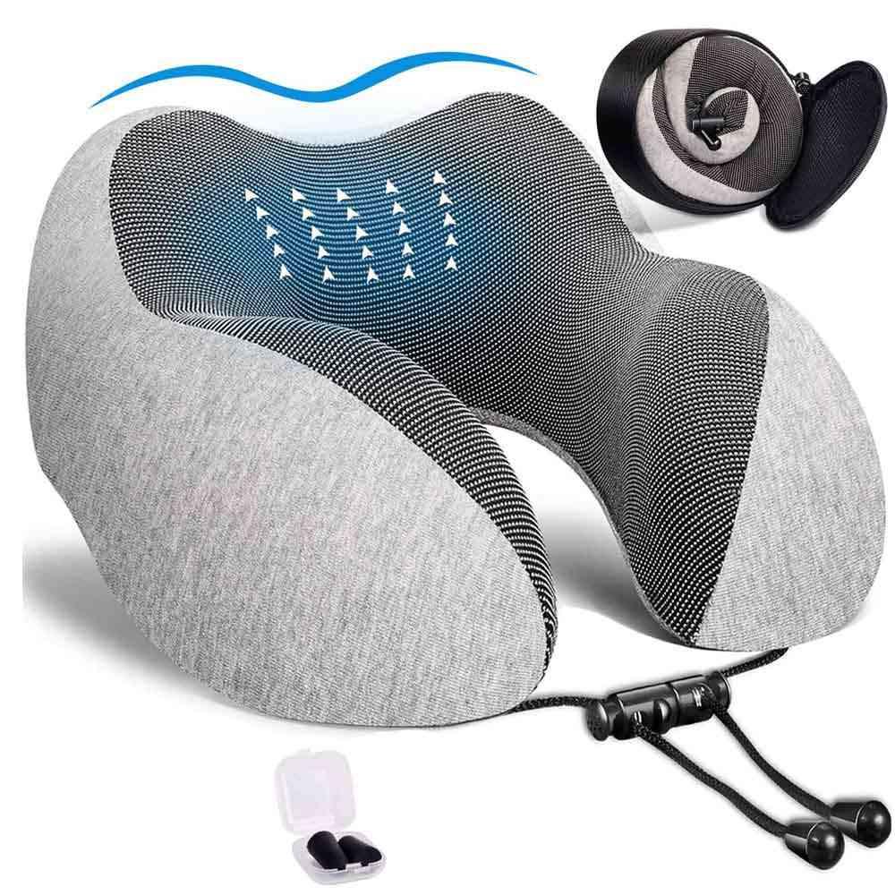U Shaped Memory Foam Soft Travel Neck Pillows - Neck Cervical Airplane Pillow