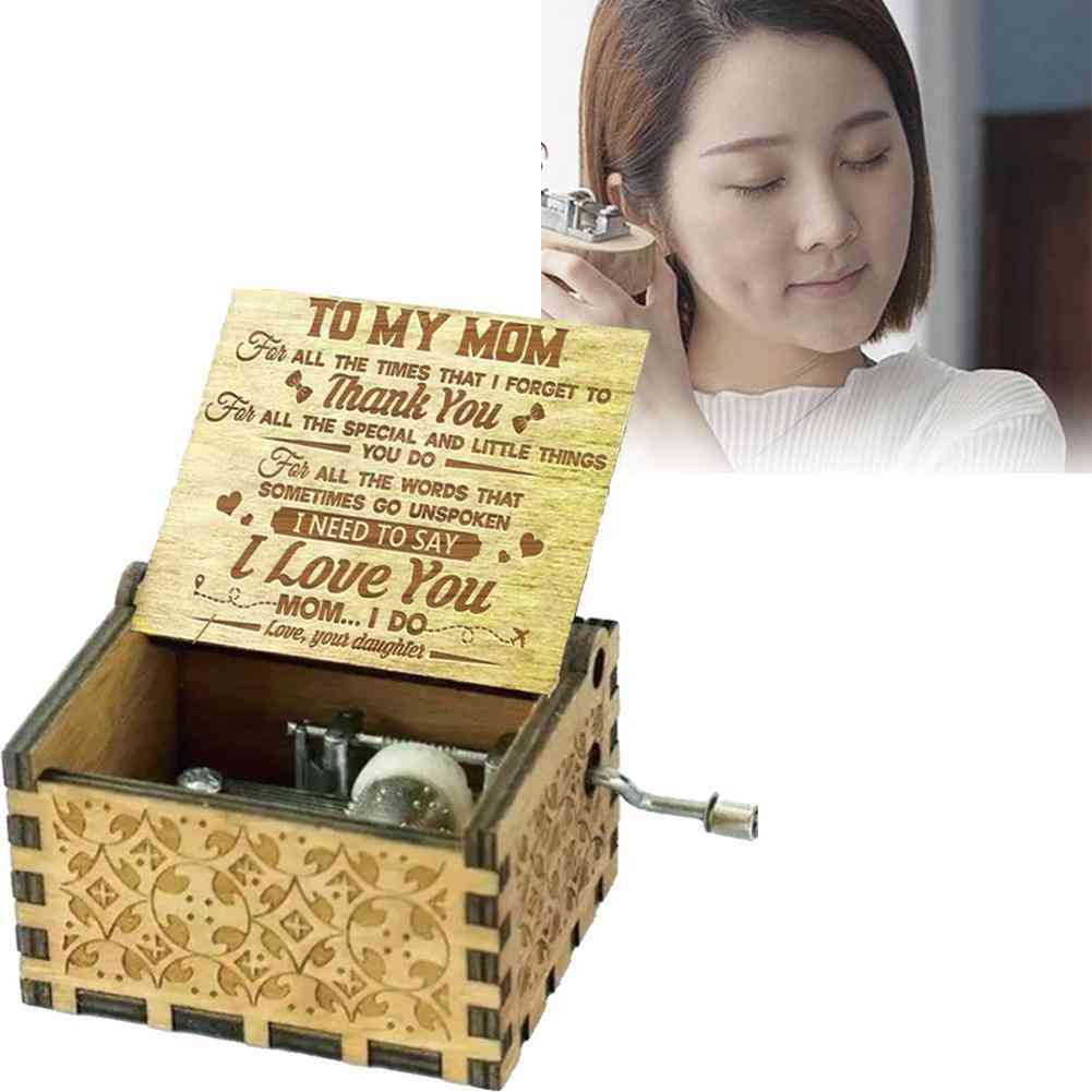 To Mom From Daughter 'for All The Times I Forgot To Thank You I Love You' Engraved 60 Tones Music Box - Mothers Day
