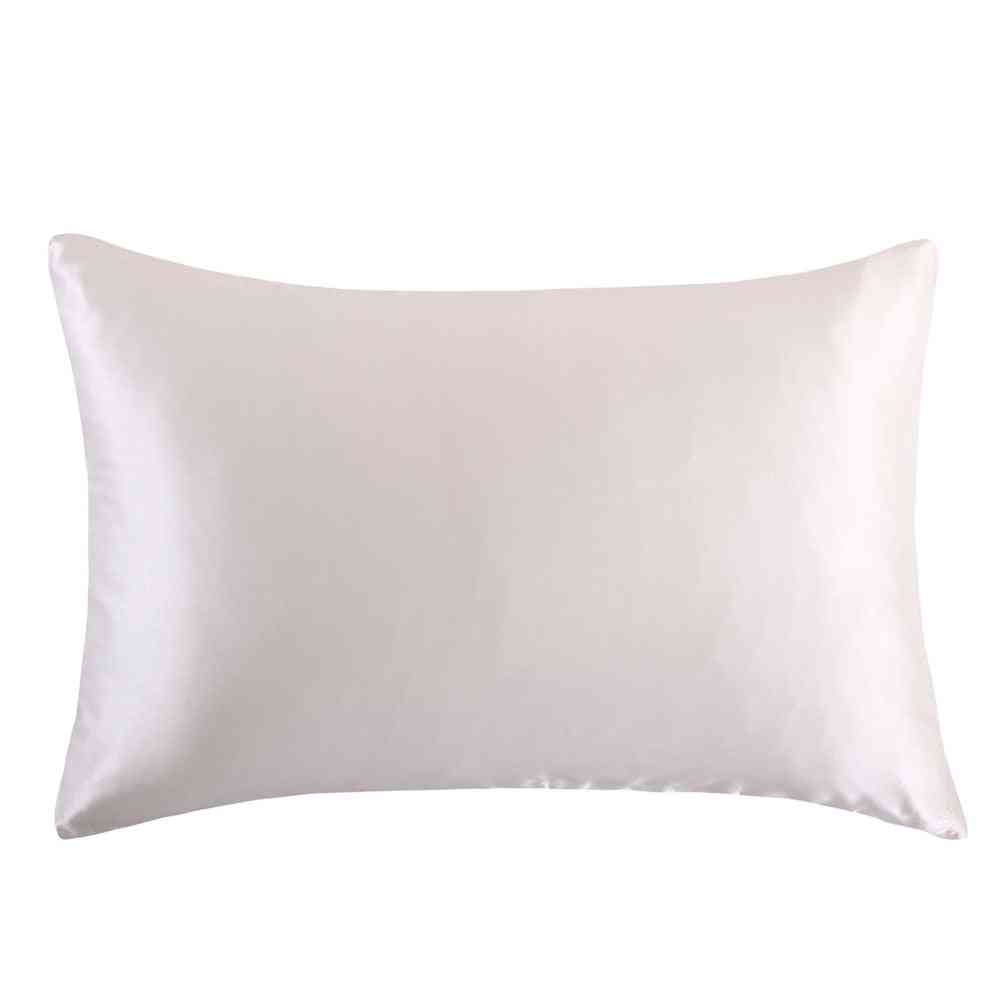 Mulberry Silk Multicolor Zipper Pillowcases For A Healthy, Standard Queen, King