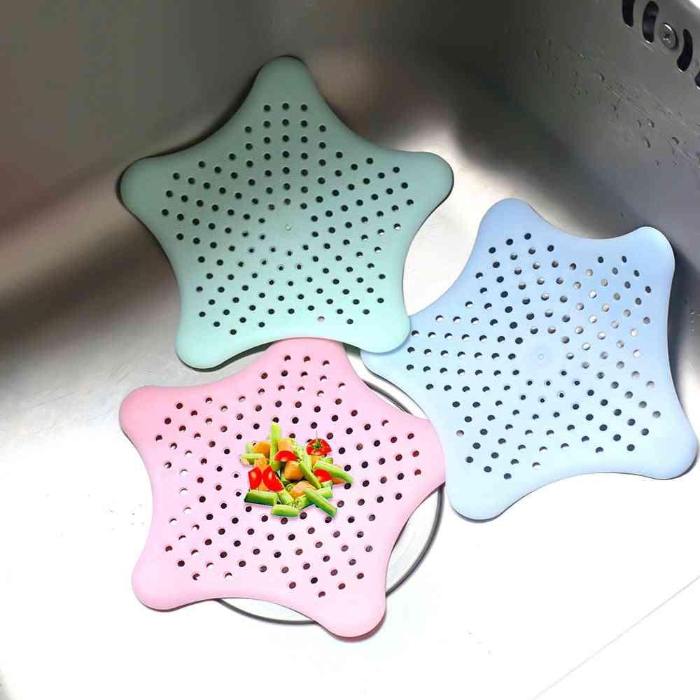 Creative Star Shape Kitchen Sink Filter - Anti Blocking Floor Drain Sucker & Strainer