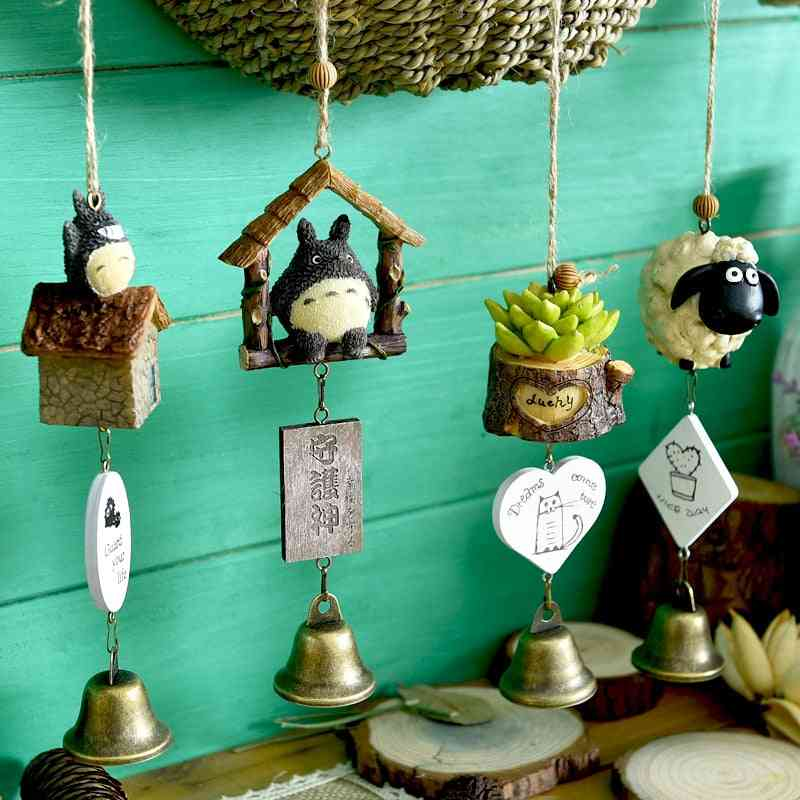 Diy Home Decoration Wind Chime - Totoro, House, Plant Pastoral Style