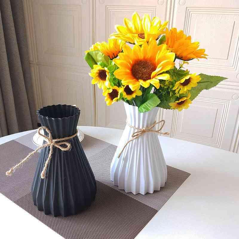 Creative Unbreakable Plastic Vases - Home Decoration Anti Ceramic Vases, European Wedding, Home Modern Decorations