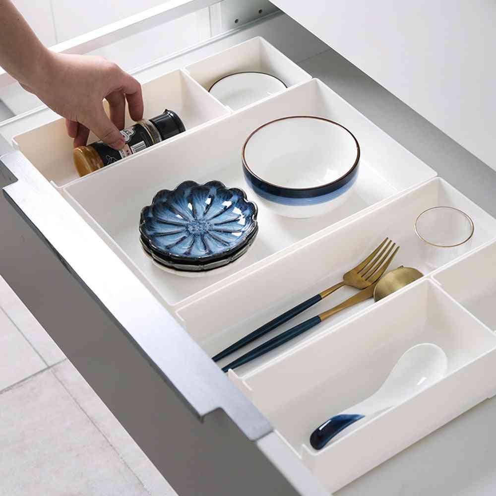 Adjustable Closet Drawer Divider Tray, Kitchen & Makeup Organizer, Container, Storage Case