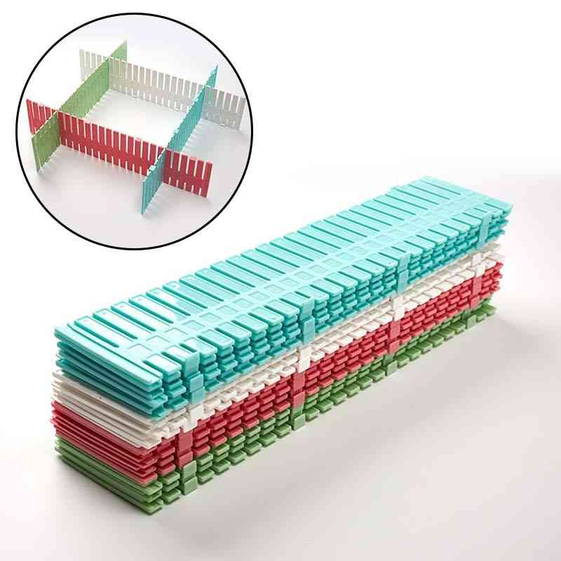 Plastic Diy Grid Drawer, Adjustable Separator, Cabinet Divider, Storage Organizer