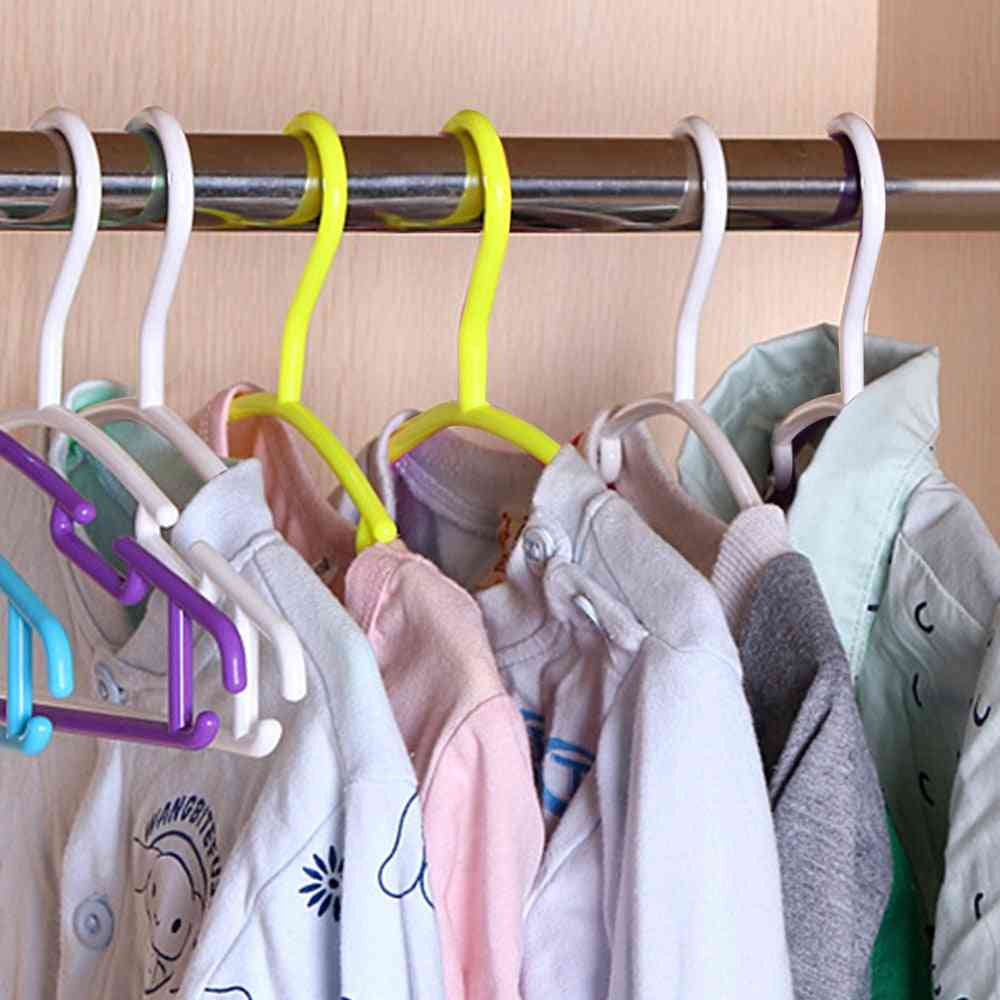 Durable And Anti Slip Clothes, Coat Hanger For Home - Wardrobe Organizer And Drying Rack For Toddler Baby Kids