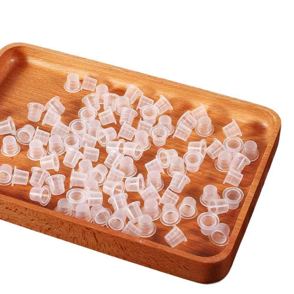 Plastic Tattoo Ink Cups For Permanent Makeup Pigment Container Caps