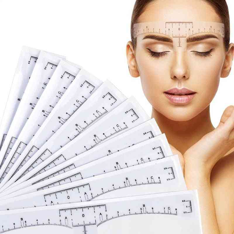 Disposable Eyebrow Large Ruler For Measurement Mark - Permanent Makeup Sticker Tattoo Tool