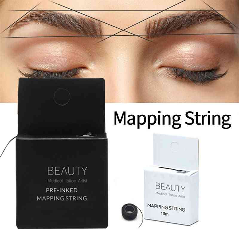 Microblading Pre Inked Mapping String Eyebrow Thread - Tattoo Accessories