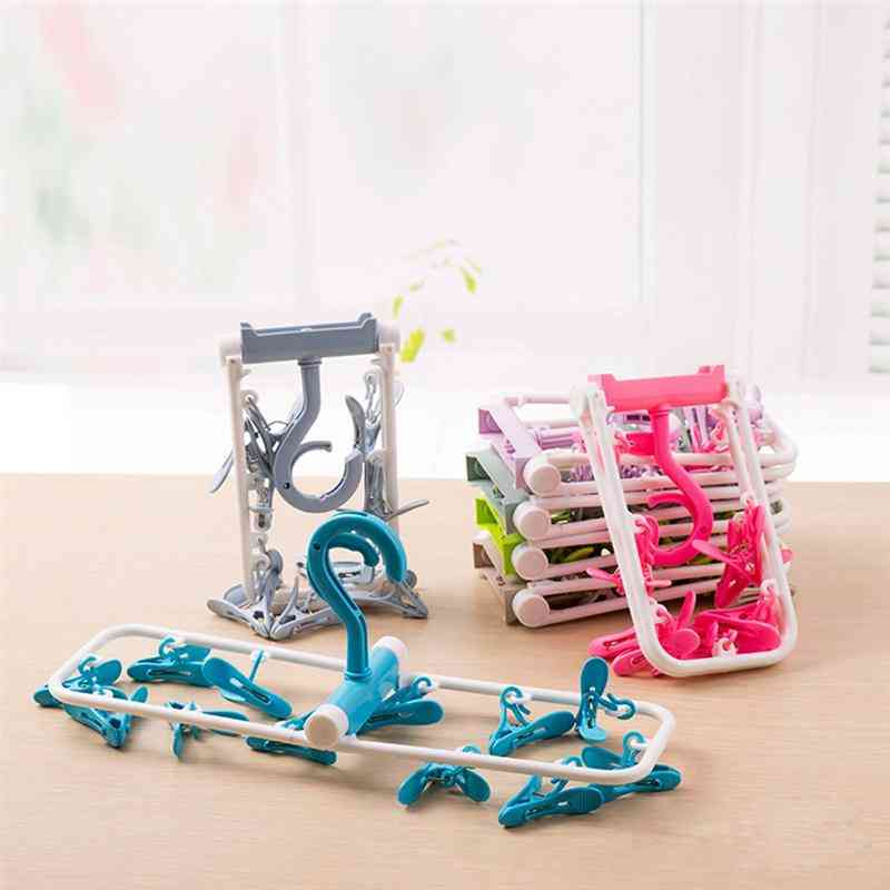 Foldable Clothes Drying Rack - Portable Laundry Hanger For Travel