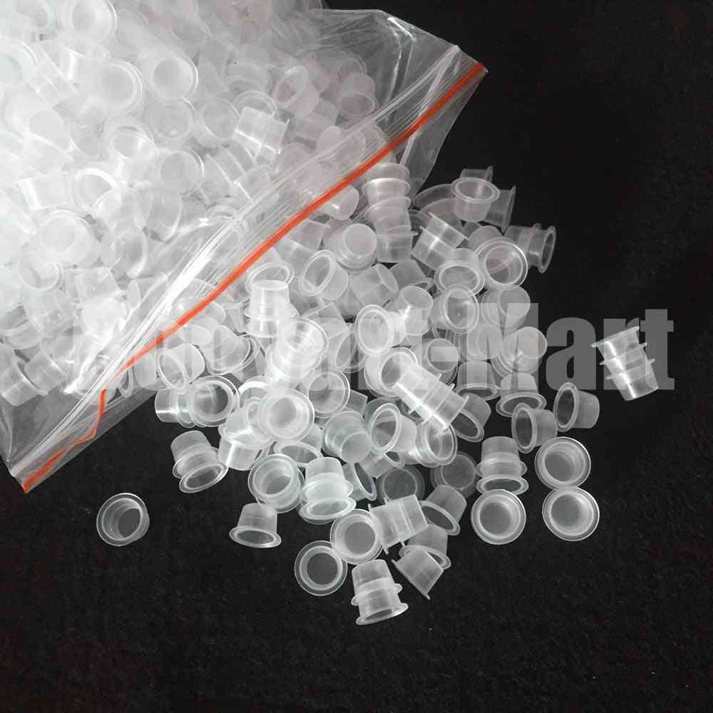Small Size Clear White Tattoo Ink Pigment Cups Caps