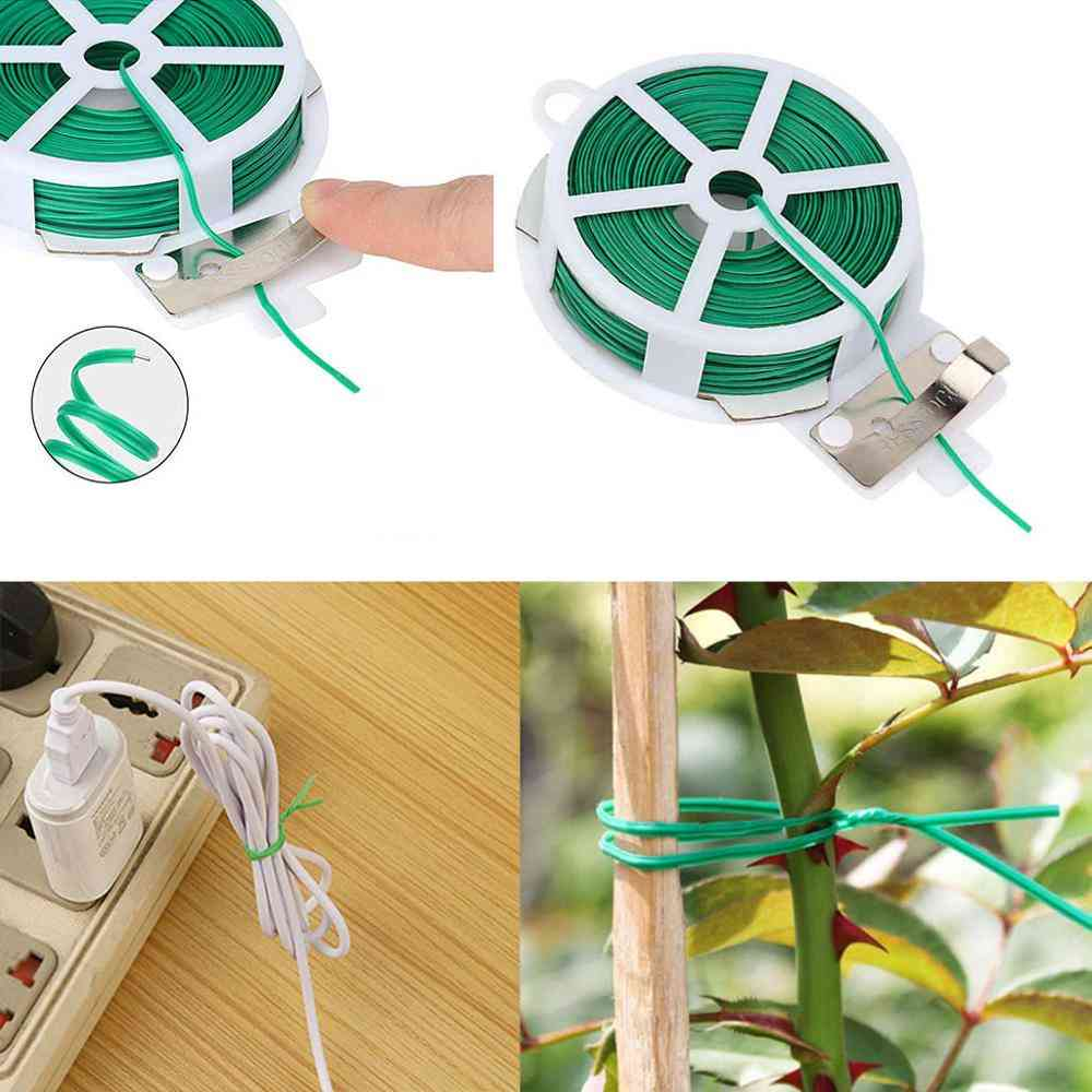 Garden Tie With Protection Bag, Plastic Wire Binding Line, Climbing Plants Cable Flower, Cucumber Grape Rattan Holder
