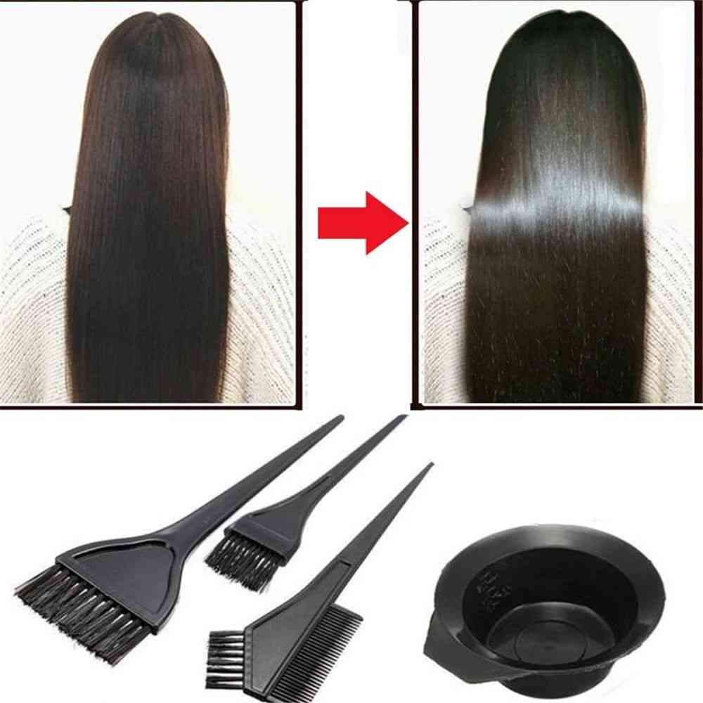 New Hair Color Tools For Combo, Salon, Color And Dye - Hairdressing Coloring Kit With Brushes And Bowl