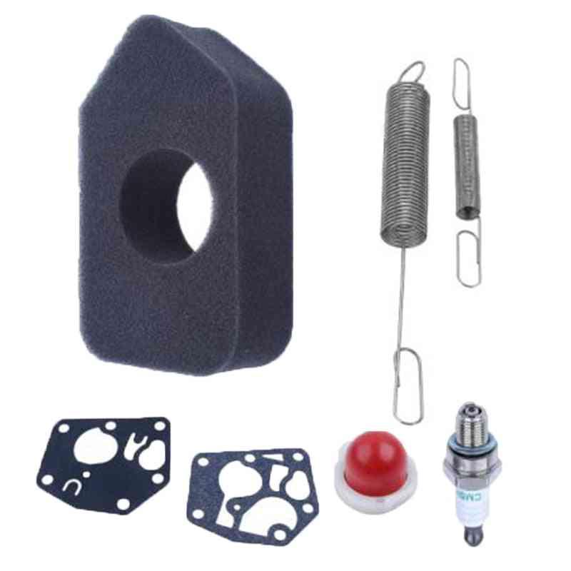 New Spring Air Filter Gaskets Spark Plug Kit For Briggs & Stratton Primer Bulb