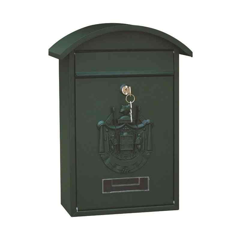 Lockable, Wall Mounted Iron Post Box With Key
