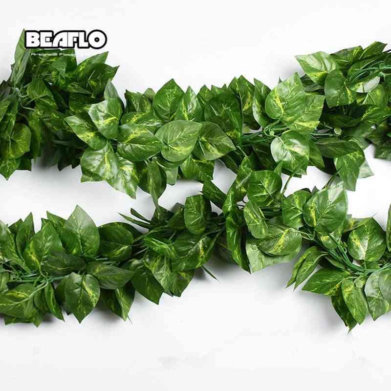 Artificial Decoration, Vivid Vine Rattan Leaf Vagina Grass Plants