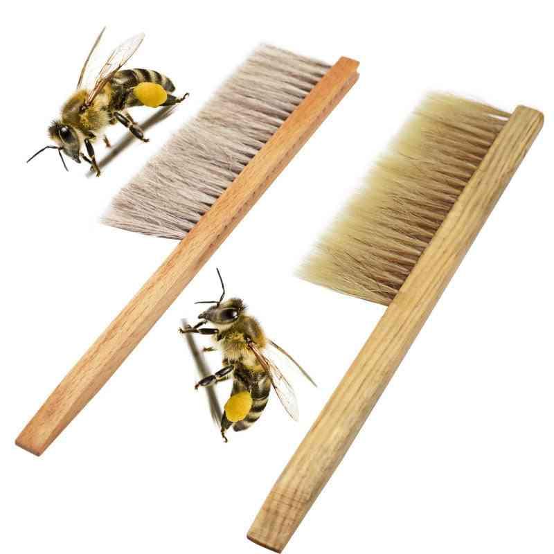Beekeeping Tools -wood Honey Brush Wasp Bee Sweep