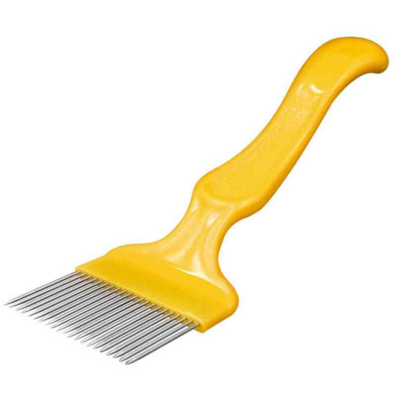 Beekeeping Tools Pin Straight Needles Uncapping Forks Handle Stainless Steel Honey Sparse Rake Shovel Comb Bee Equipment