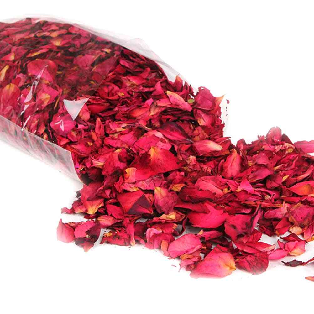 New Romantic Natural Dried Rose Petals For Bath - Dry Flower For Spa, Whitening, Shower Aromatherapy Bathing