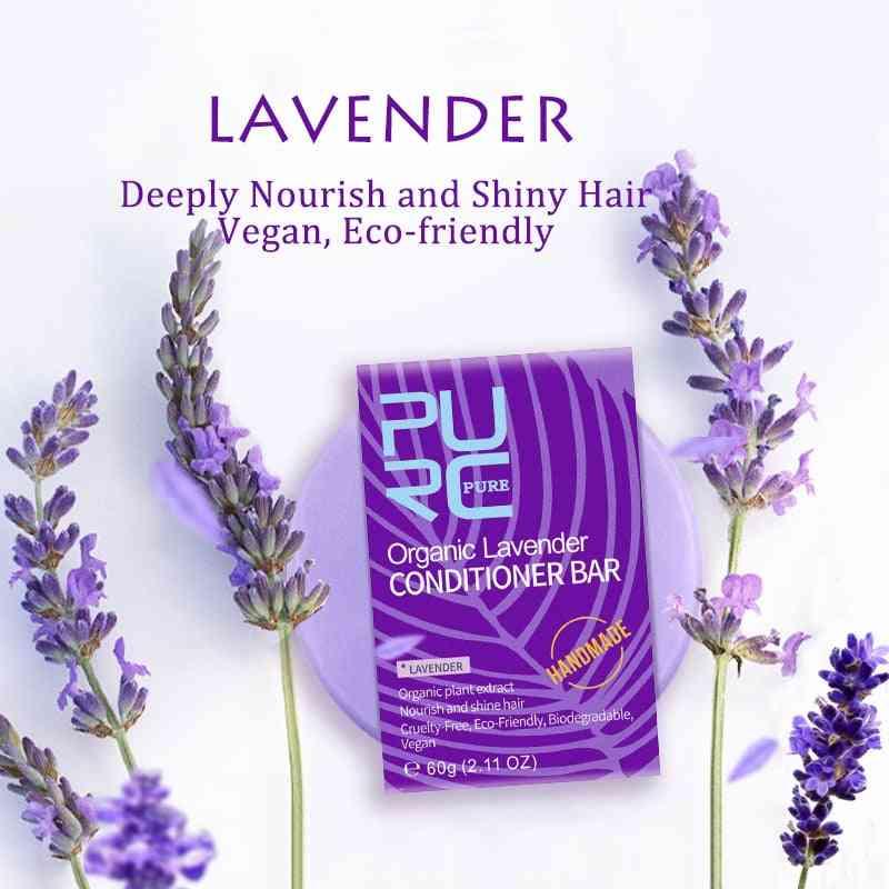 Organic Lavender Conditioner Bar Cold Processed - Handmade Shampoo Soap