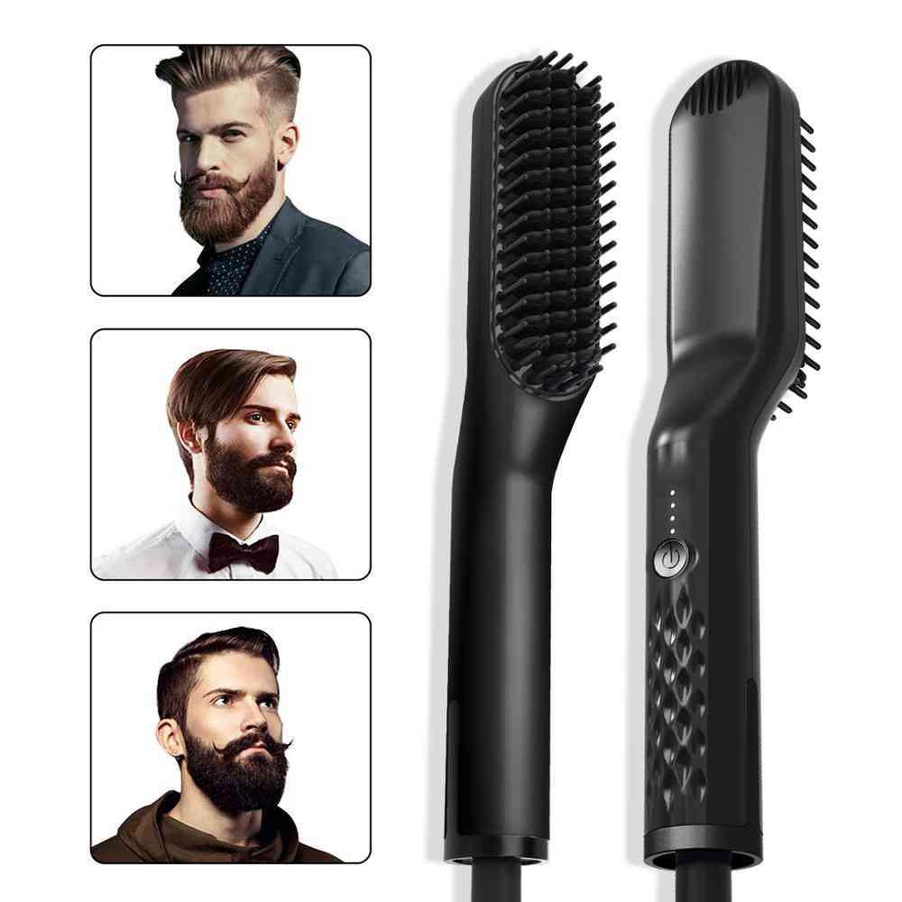 3 In1 Quick Beard Straightener Hair Brush