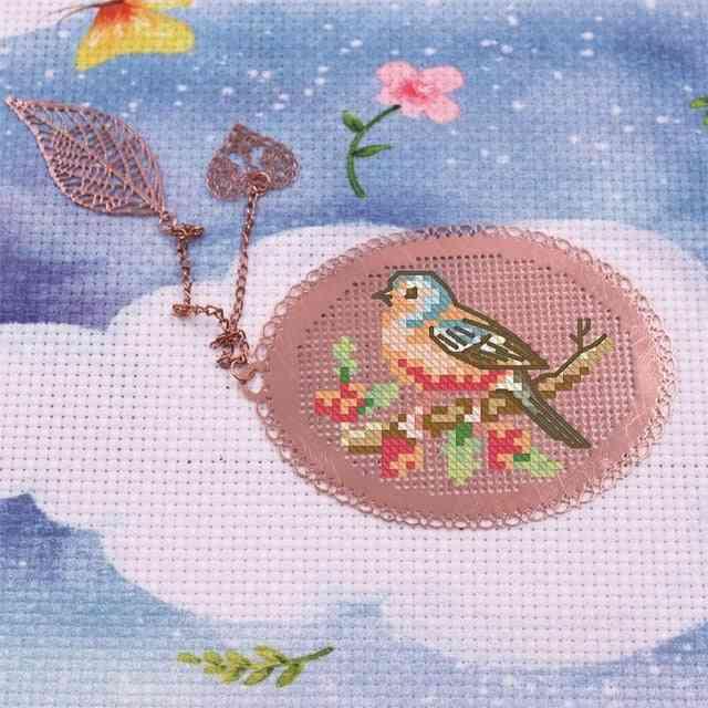 Diy Cross Stitch Embroidery- Metal Crafts Bookmark