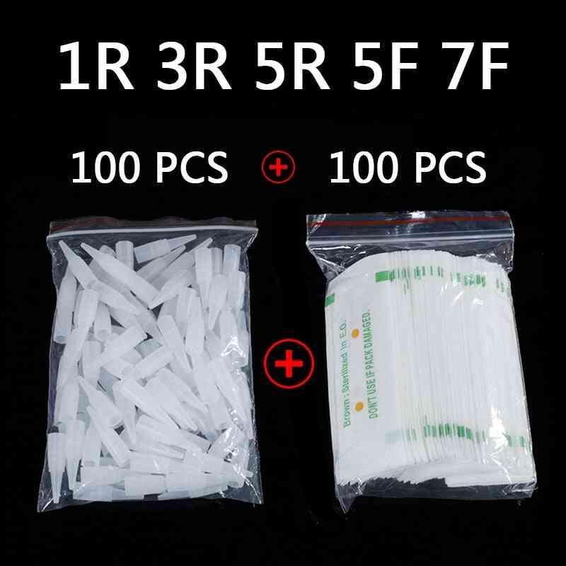 Disposable Sterilized Professional Tattoo Needles For Permanent Makeup Eyebrow