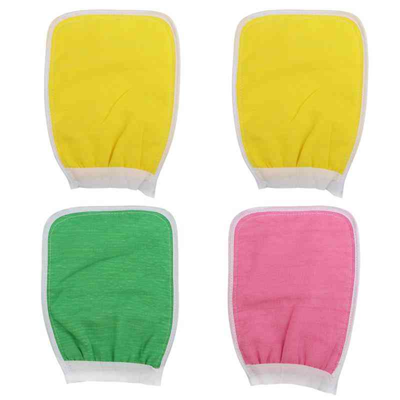 Double Sided Exfoliator Glove And Scrubber For Body Spa And Deep Cleansing For Men Women