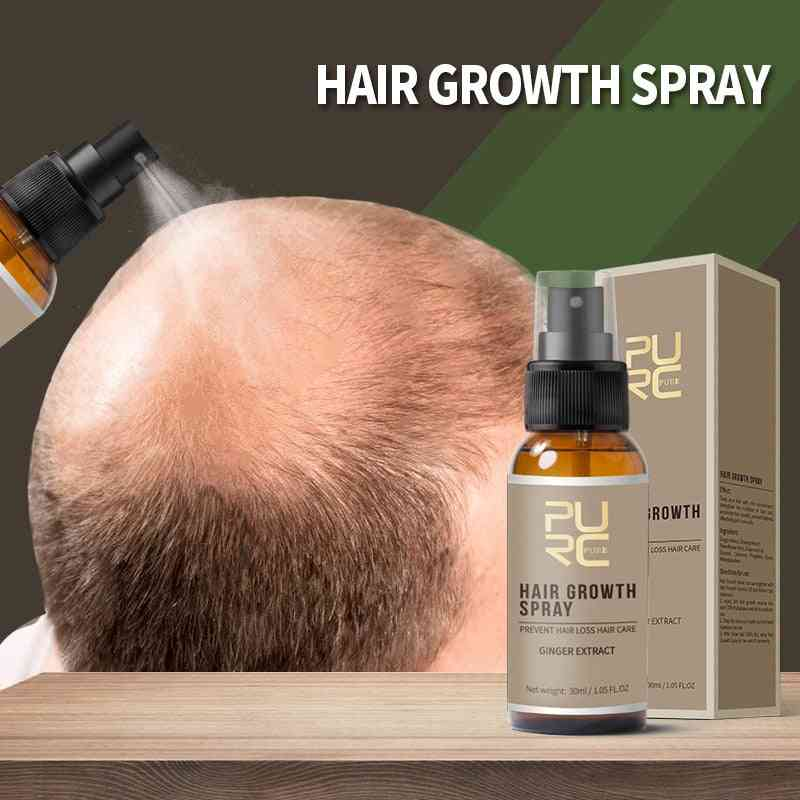 Hair Growth Ginger Spray Essence, Effective Extract Anti Hair Loss Nourish Roots