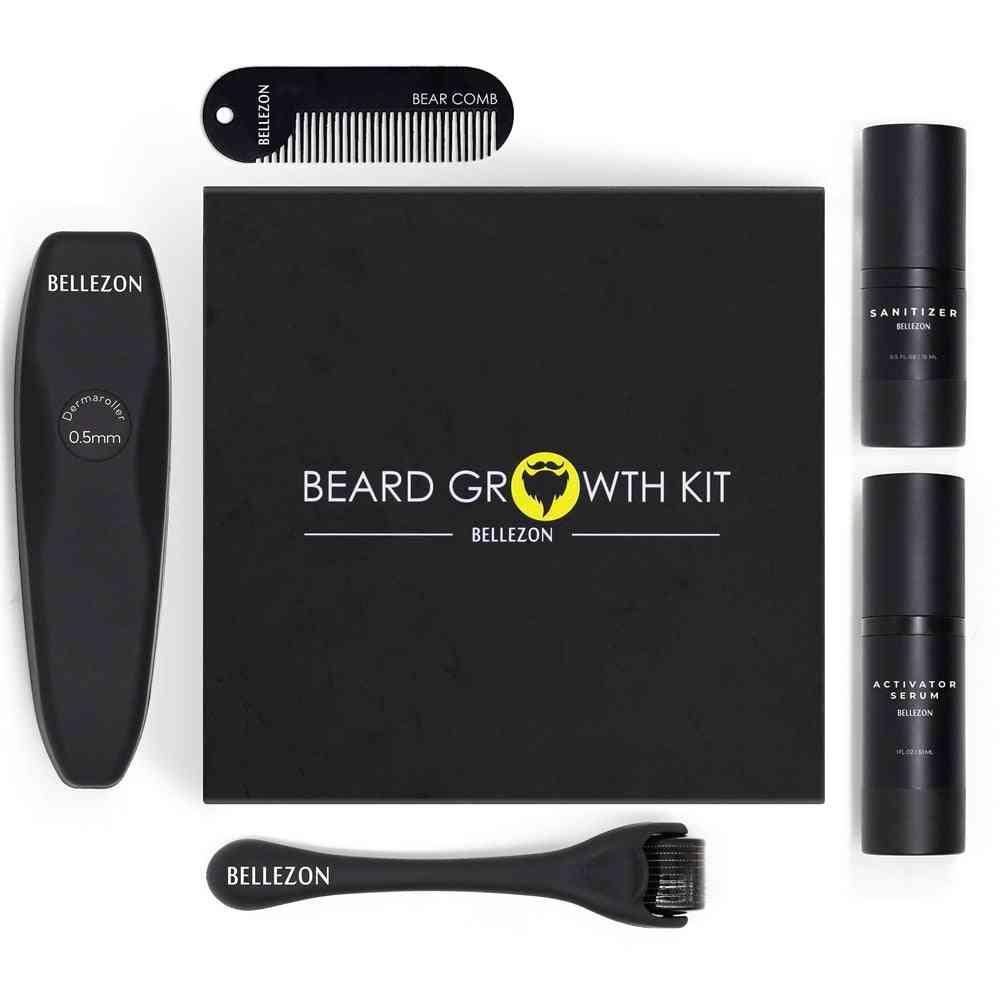 Barber Beard Growth Kit, Hair Growth Enhancer Set