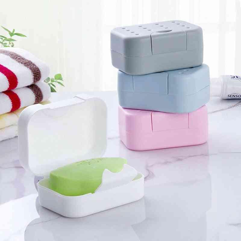 Soap Dish Non-slip Box Case - Bath Shower Soap Holder Dish, Hiking Container Soap Box