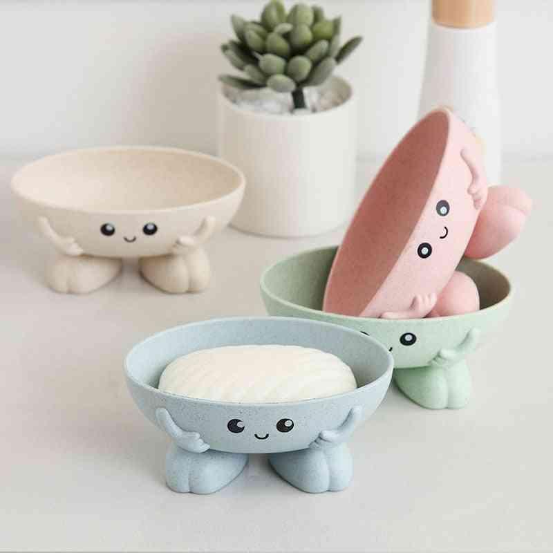 Eco-friendly Non-slip Soap Dish - Bathroom Cartoon Shape Soap Holder
