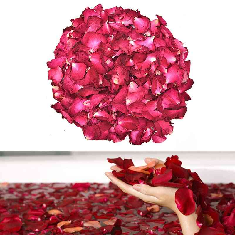 Natural, Dried Rose Petals For Bath, Spa And Shower