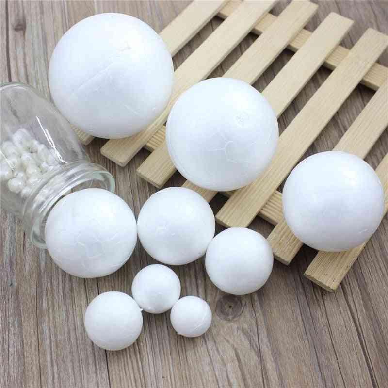 Polystyrene Styrofoam Foam Ball - White Craft Balls For Diy Christmas Party Decoration