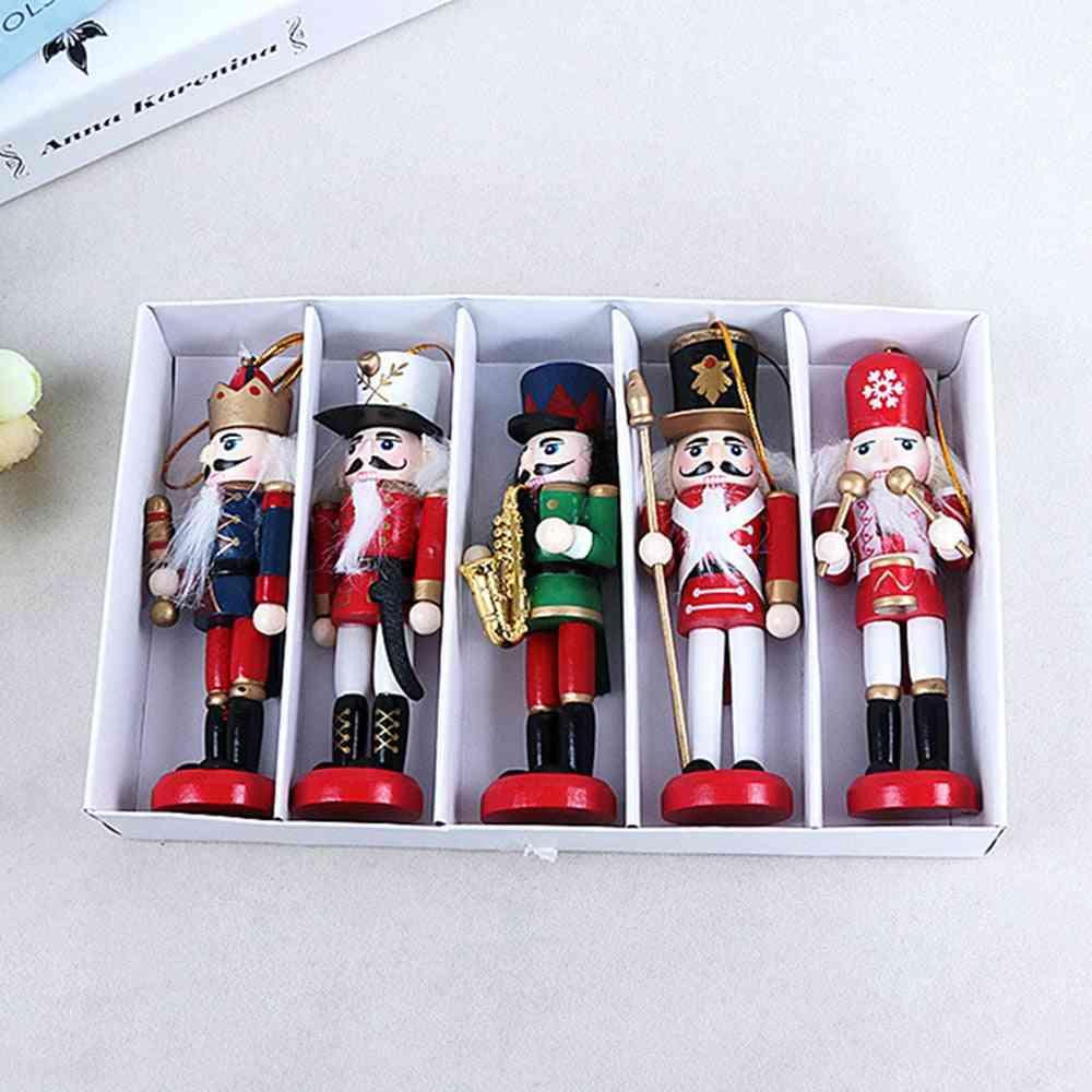 New Year Decor Wooden Nutcracker Soldier Kids Doll - Merry Christmas Decoration Pendants Ornaments
