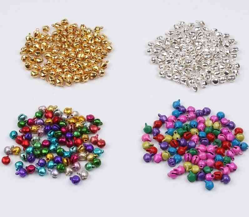 Mini Multicolor Bell, Christmas Jingle Bells Loose Beads - Diy Handmade Bell Crafts Accessories