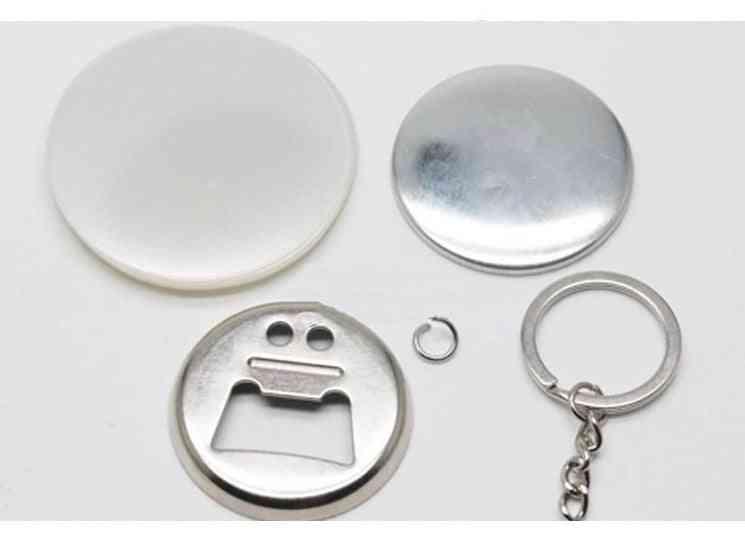 Button Badge Bottle Opener Key Ring