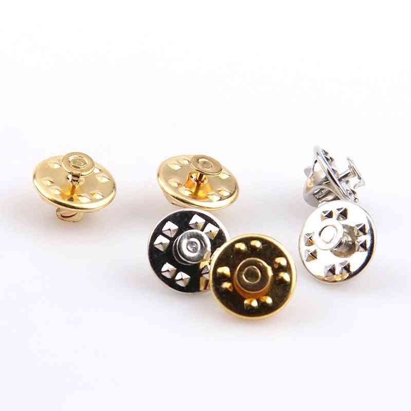 Lapel Pin Butterfly Brooch Clasp - Holder Clutch Diy Buckle Squeeze Badge, Jewelry Accessories