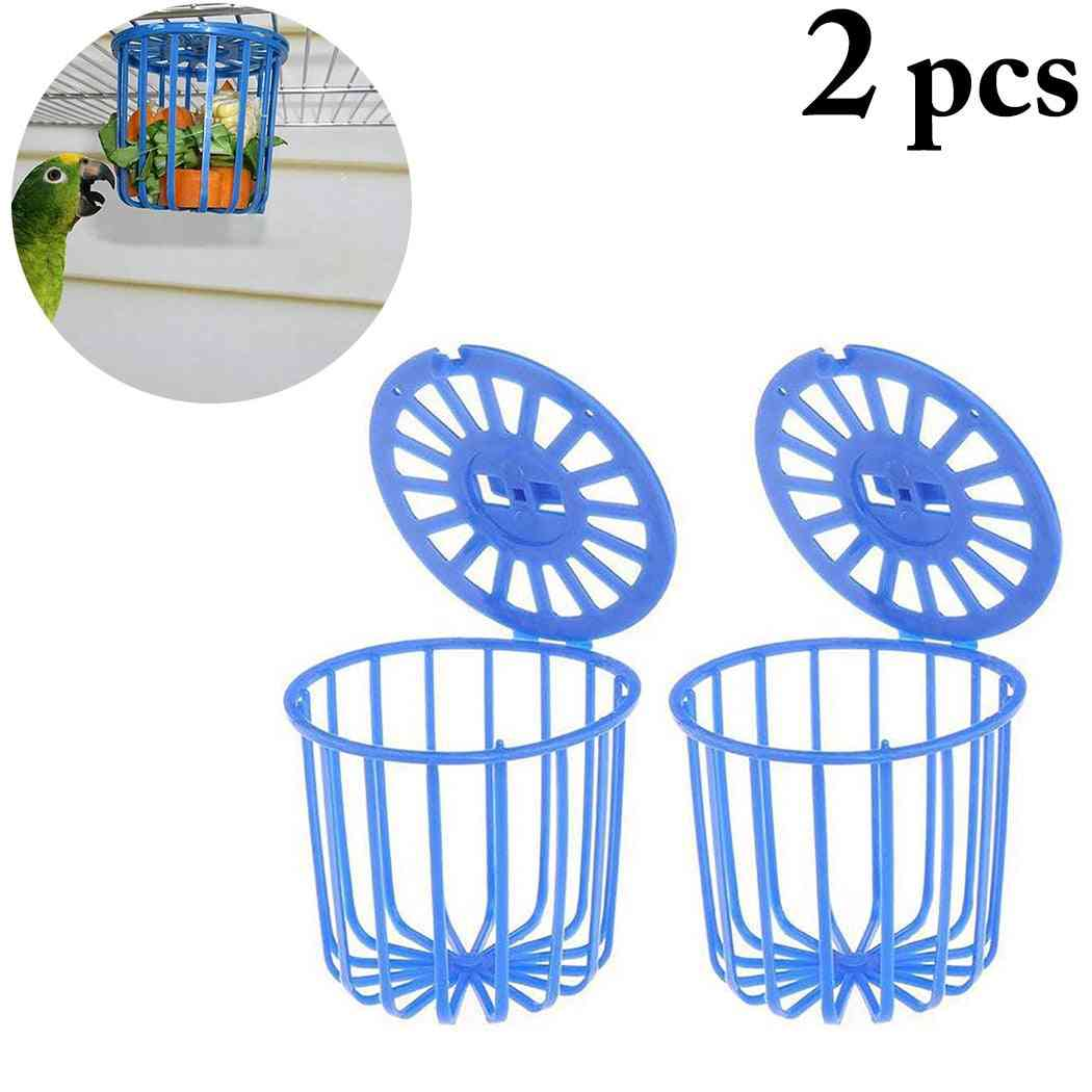 Creative Multi-purpose Cage Hanging Bird Fruit Vegetable Feeder Basket Parrot Feeder Pet Feeding Supplies
