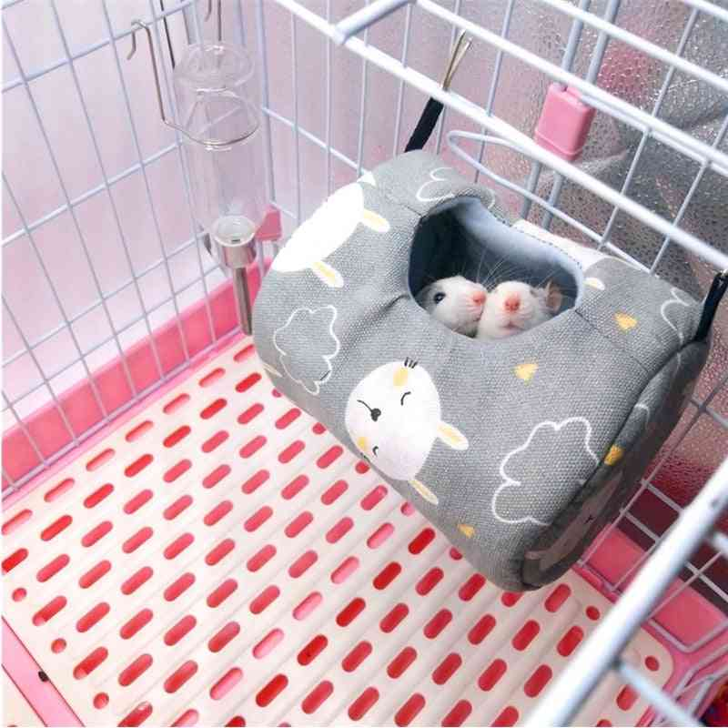 Hamster Cages Life Nest Spring Little Pet Canvas Hammock Hedgehog Chinchilla Guinea Pig Hanging House Small Animal Products
