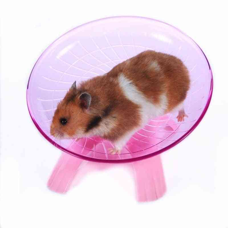 Pet Hamster Flying Saucer Exercise Wheel Hamster Mouse Running Disc Toy Cage Accessories