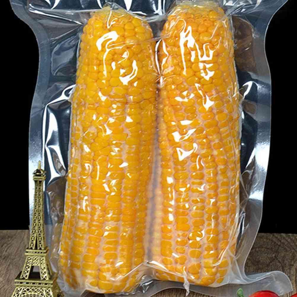 Food Vacuum Plastic Bag 100pcs - Thicken Transparent Cooked Food Compression Bag