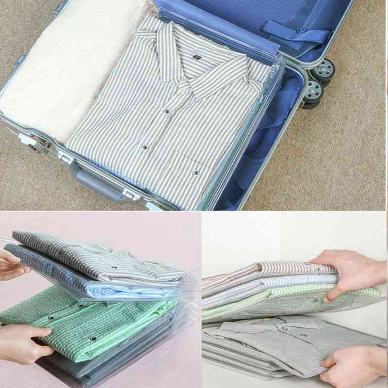 Reusable Household Fast Magical Clothes Fold Board Folder - Closet/wardrobe Drawer Stack Organizer