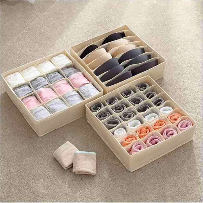 Multi-size, Foldable Home Closet Storage Box Organizer, Wardrobe/closet Organizer For Scarfs Socks