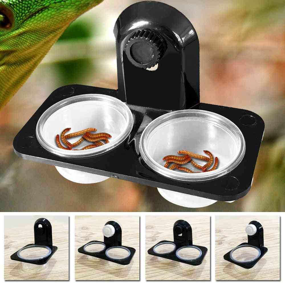 Reptile Tank For Insects, Spider, Ants - Food, Water Feeding Bowl, Breeding Feeders Box For Pets At Home, Garden, Farm