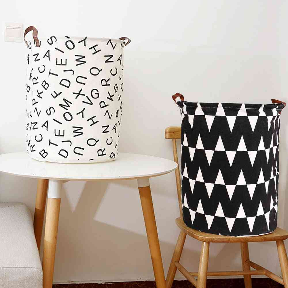 Collapsible Clothes Toy, Laundry Holder Organizer - Folding Laundry Basket, Round Storage Bin Large Capacity Home Decoration