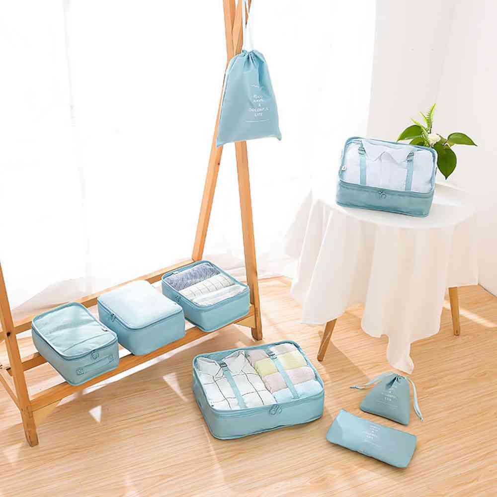 Travel Home Clothes, Quilt, Blanket Storage Bag Set/partition Tidy Organizer