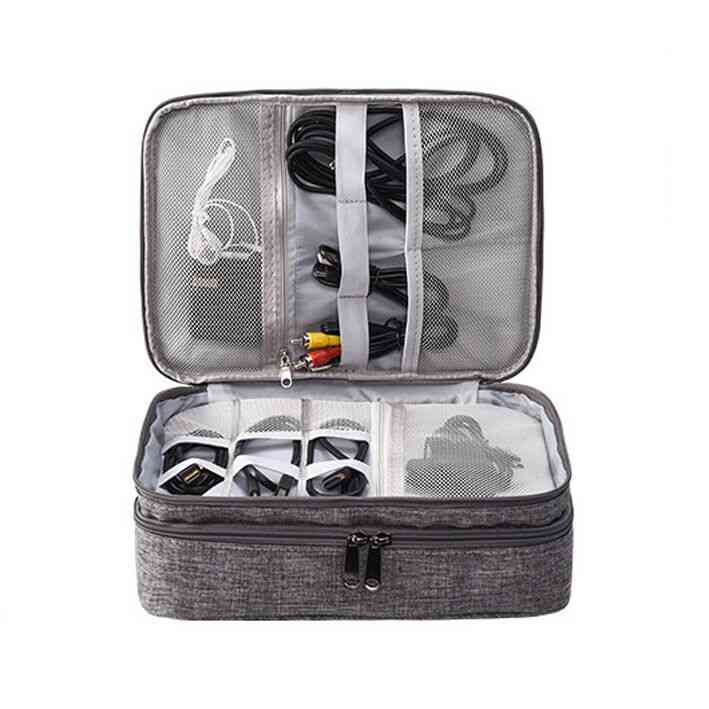 Electronic Digital Organizer Waterproof Travel Storage Bag - Usb Cable, Earphone, Gadget Travel Storage Bag